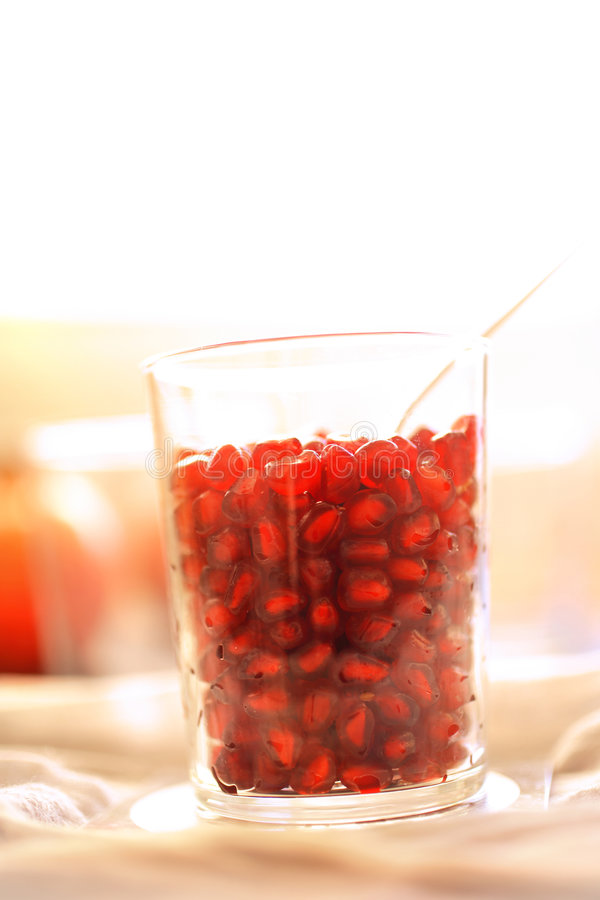 Download Pomegranate Seeds In Glass Royalty Free Stock Photography - Image: 7678227