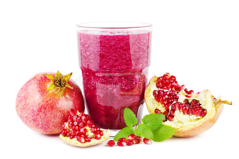 Pomegranate smoothie royalty free stock photography