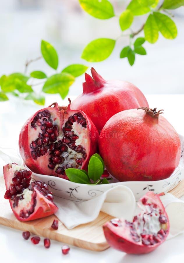 pomegranates стоковое изображение