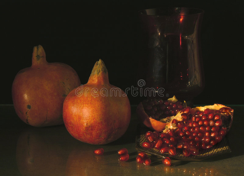 Pomegranates stock photos
