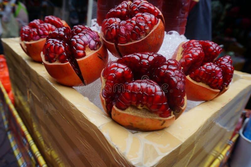 Pomegranates in Bangkok royalty free stock images