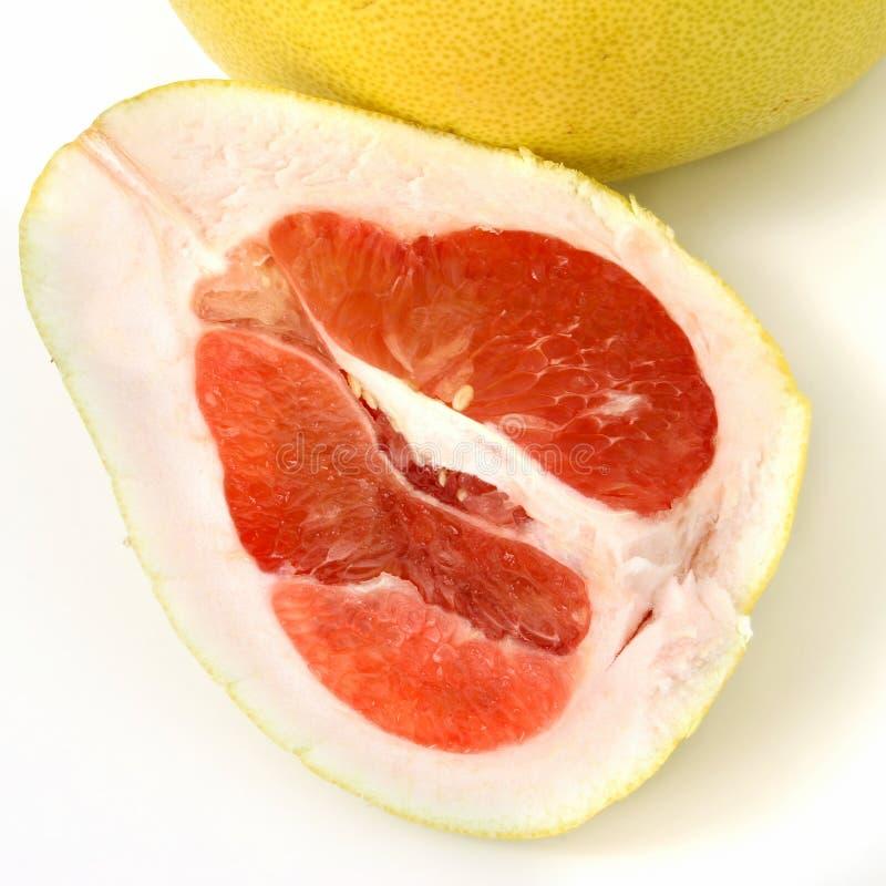 Pomel Of Het Fruit Van Pommelo Of Van De Pompelmoes Stock Afbeeldingen