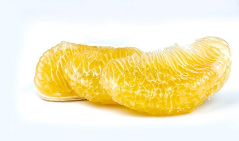 Pomelo braja bez ziaren na białym tle Tajlandia pomelo owoc Naturalny źródło witamina C i potas Zdrowy fotografia royalty free