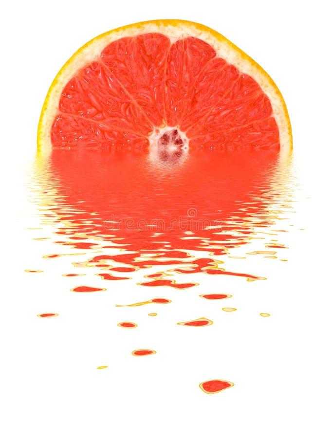 Pomelo en el agua fotos de archivo