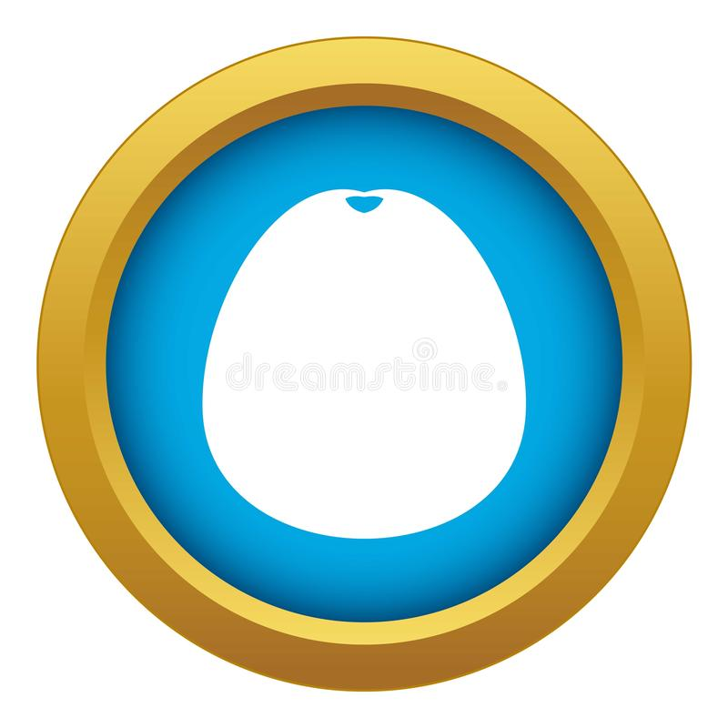 Pomelo icon blue vector isolated. On white background for any design royalty free illustration