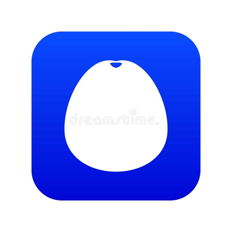 Pomelo icon digital blue. For any design isolated on white vector illustration royalty free illustration