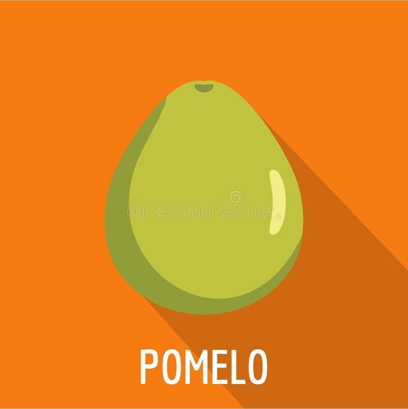 Pomelo icon, flat style. Pomelo icon. Flat illustration of pomelo icon for web stock illustration