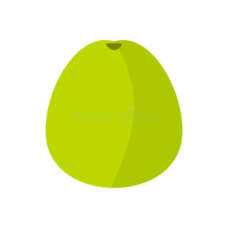 Pomelo icon in flat style. On a white background vector illustration