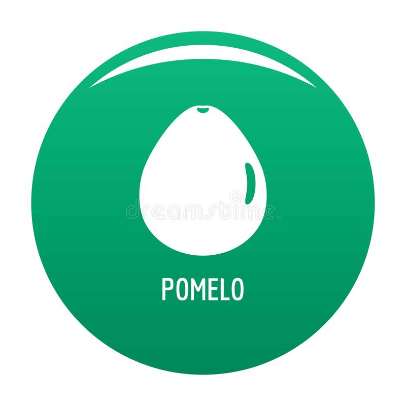 Pomelo icon vector green. Pomelo icon. Simple illustration of pomelo vector icon for any design green royalty free illustration