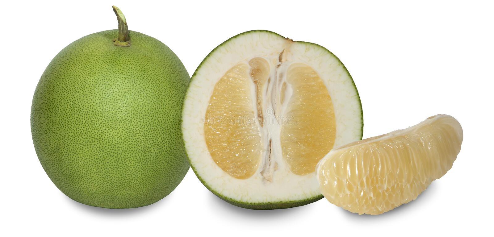 Pomelo is a plant with thick dimpled skin. royalty free stock photo
