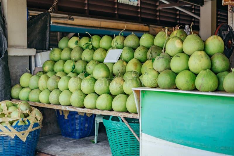 Pomelo stall at thai market royalty free stock photos