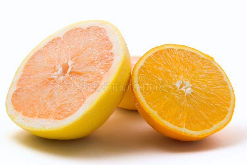 Pomelo y naranja imagen de archivo libre de regalías