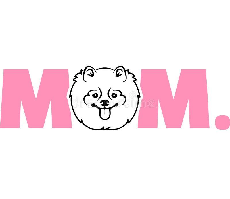 Pomeranian beste mamma vector illustratie