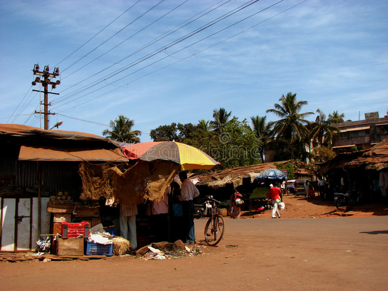 Pomeriggio del villaggio immagini stock libere da diritti
