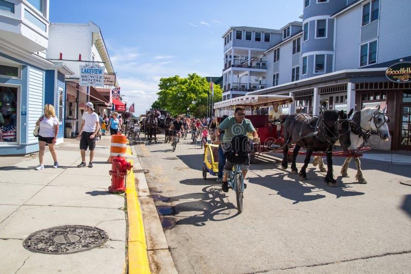 Pomeriggio dell'isola di Mackinaw immagini stock libere da diritti