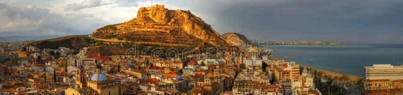 Pomeriggio di Alicante fotografie stock libere da diritti