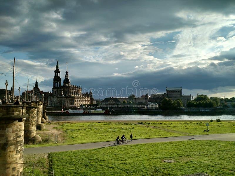 Pomeriggio a Dresda, Germania fotografie stock libere da diritti