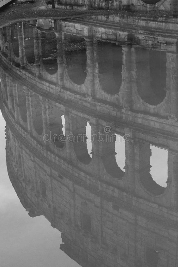 Pomeriggio Lazio, Italia della pioggia di Roma fotografie stock libere da diritti