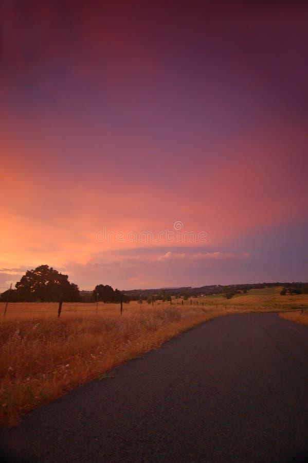 Pomeriggio rurale fotografia stock libera da diritti