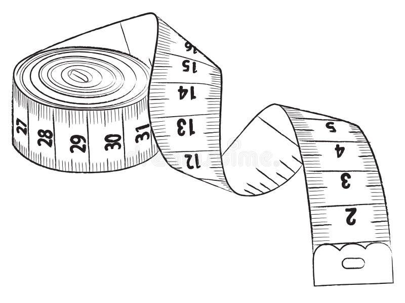 Pomiarowa taśma ilustracja wektor