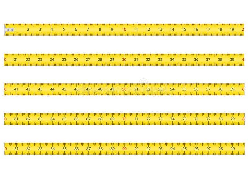 Pomiarowa taśma dla narzędziowego ruletowego wektorowego illustrati royalty ilustracja