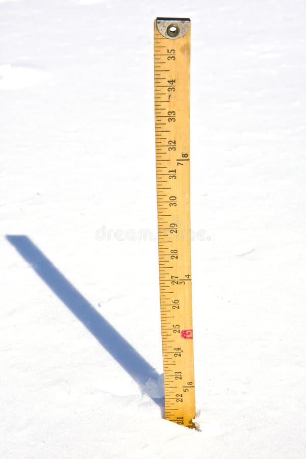 pomiarowy śnieg obrazy royalty free