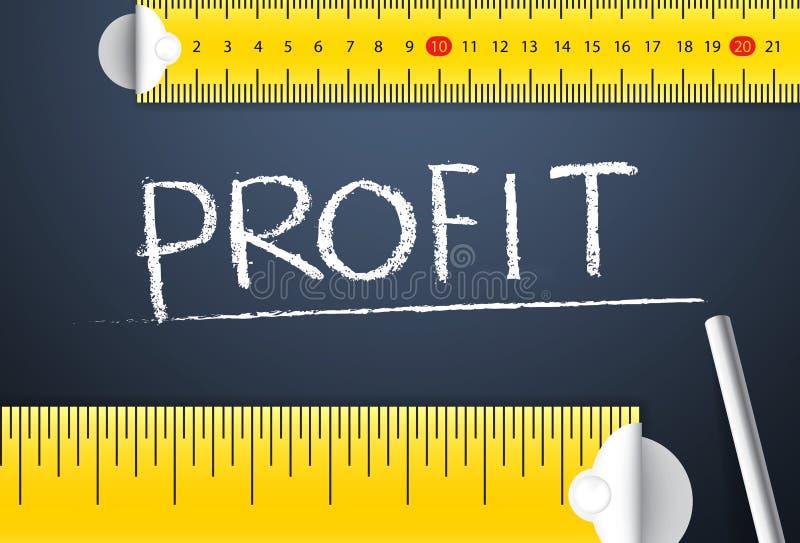 Pomiarowy Biznesowy zysk i zysku zarządzanie royalty ilustracja