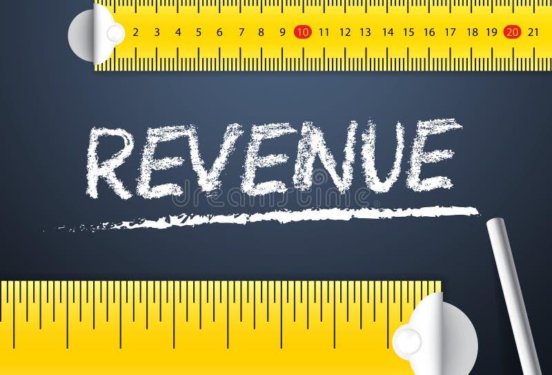 Pomiarowy Korporacyjnego biznesu lub projekta dochód ilustracji