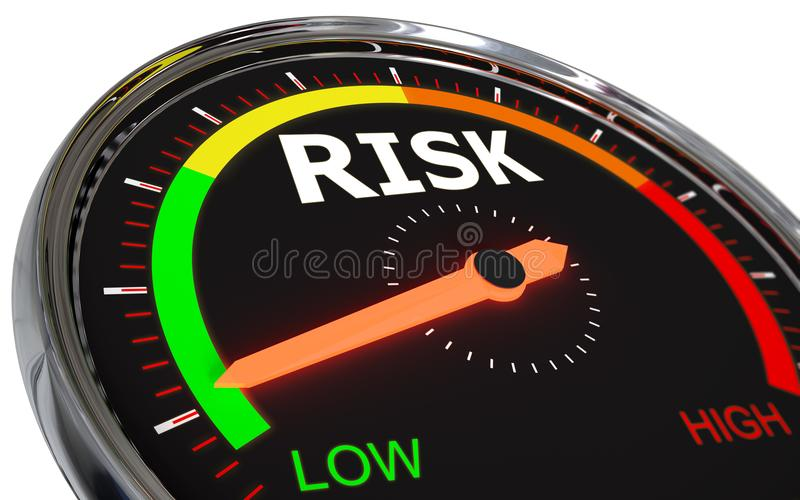 Pomiarowy ryzyko poziom royalty ilustracja