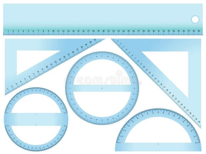 pomiaru set ilustracji