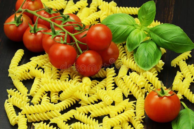 Pomidor i makaron fotografia stock