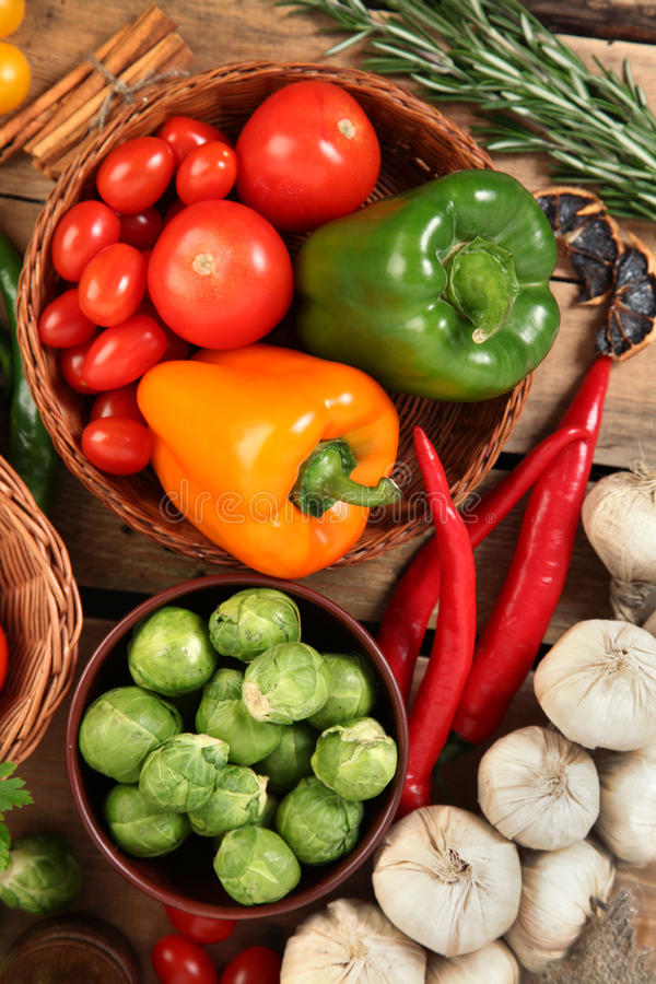 Pomidor i paprica obrazy royalty free