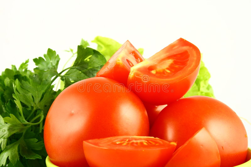 pomidor salat zdjęcie stock