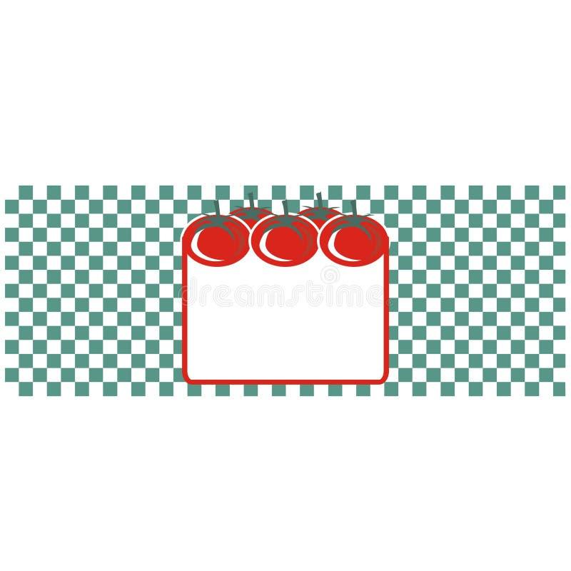 pomidor się etykiety royalty ilustracja