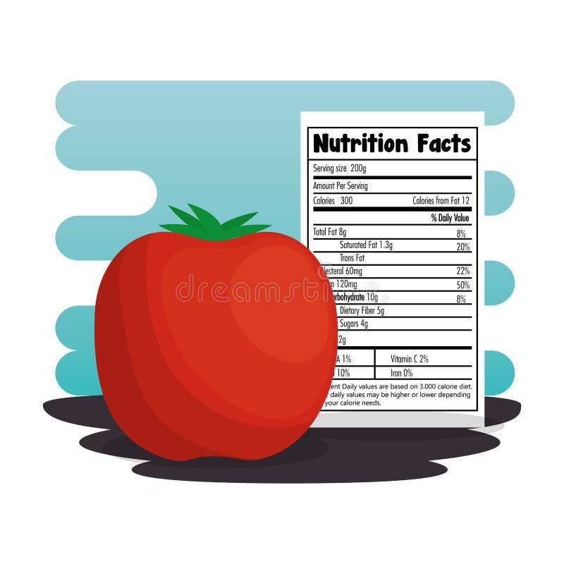 Pomidor z odżywianie fact royalty ilustracja