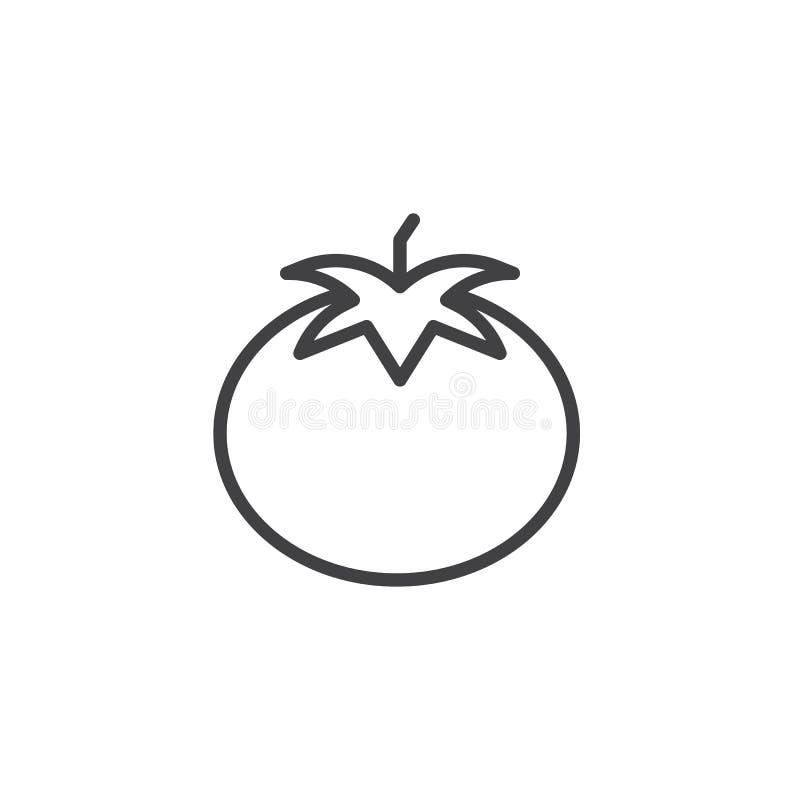 Pomidorowa kontur ikona ilustracji