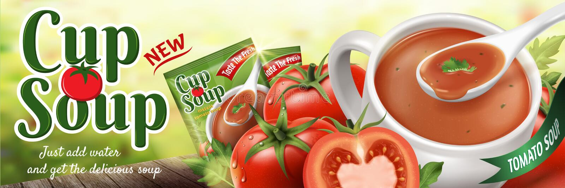 Pomidorowa natychmiastowa polewka ilustracji
