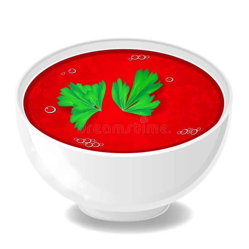 Pomidorowa polewka ilustracja wektor
