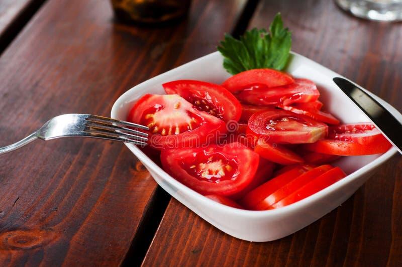 Pomidorowa sałatka zdjęcia royalty free