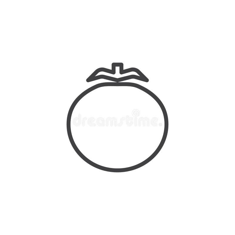 Pomidorowa warzywo linii ikona ilustracja wektor