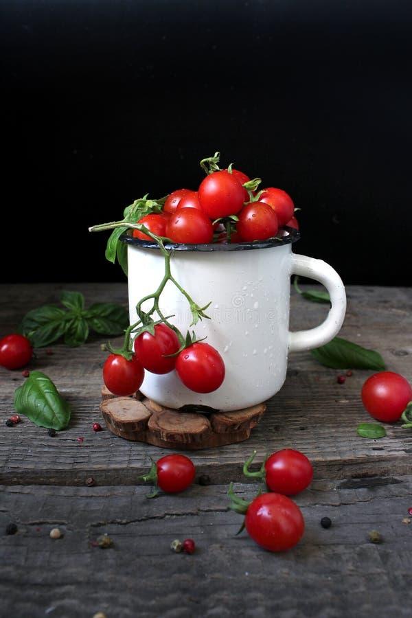 Pomidorowa wiśnia zdjęcie royalty free