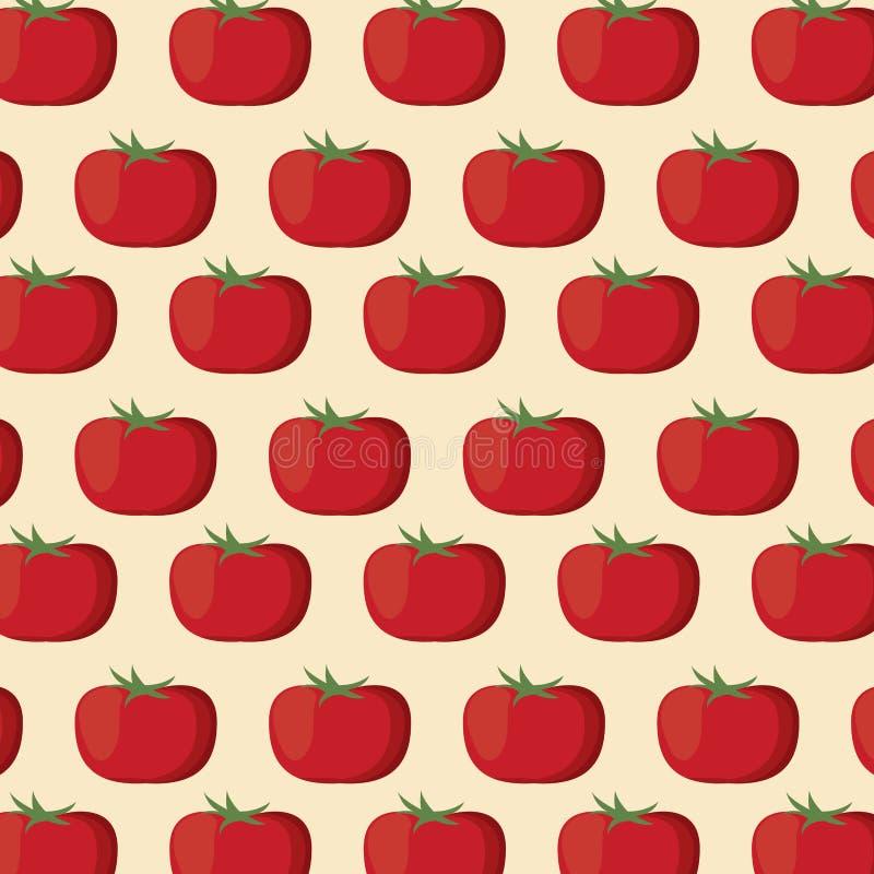 Pomidorowego odżywiania bezszwowy deseniowy wizerunek ilustracji