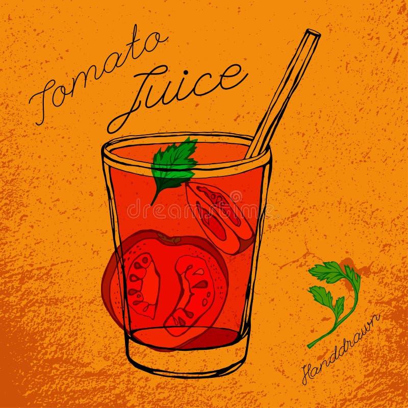 Pomidorowego soku wektor ilustracji