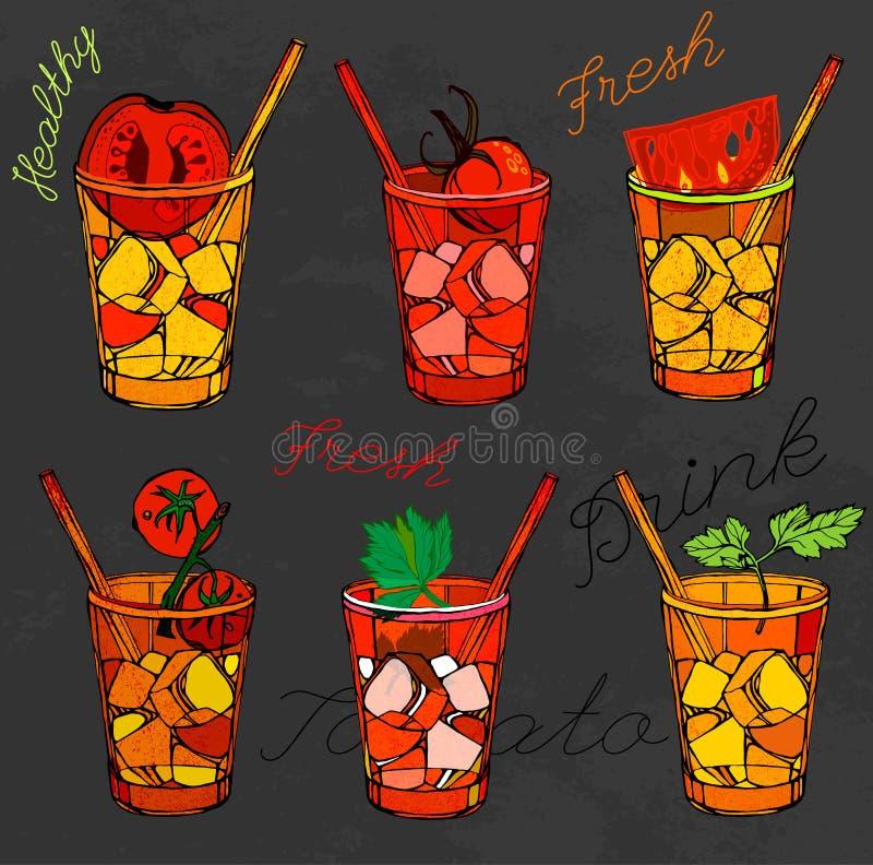 Pomidorowego soku wektor royalty ilustracja