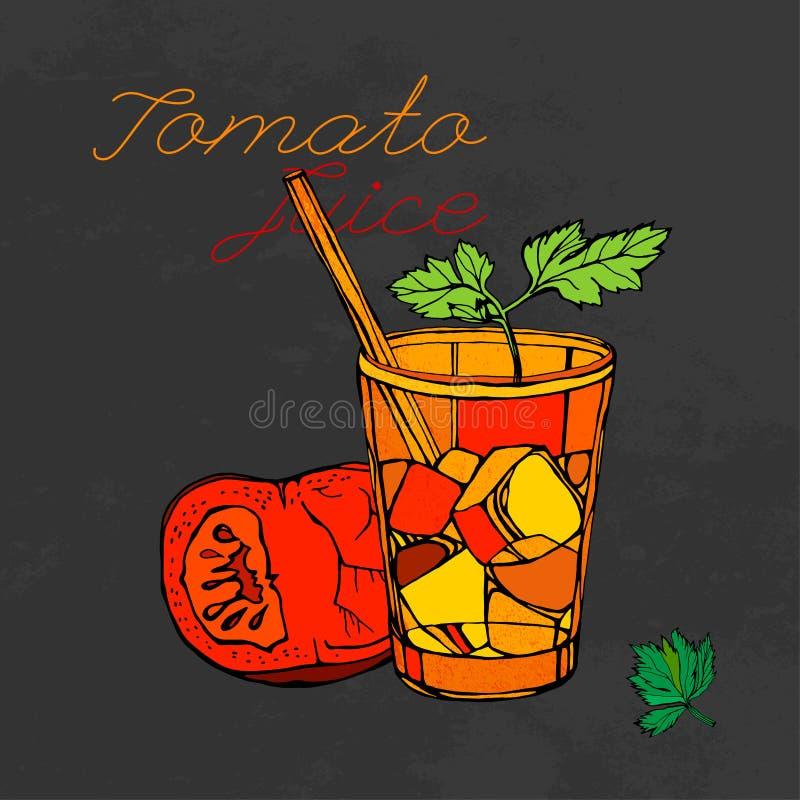 Pomidorowego soku wektor ilustracja wektor