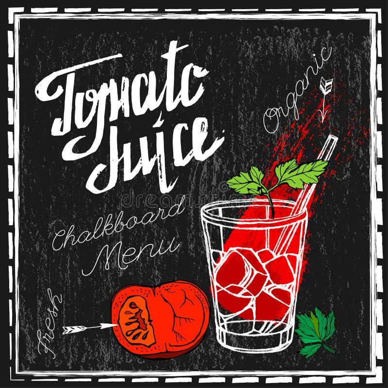 Pomidorowego soku wizerunek ilustracja wektor