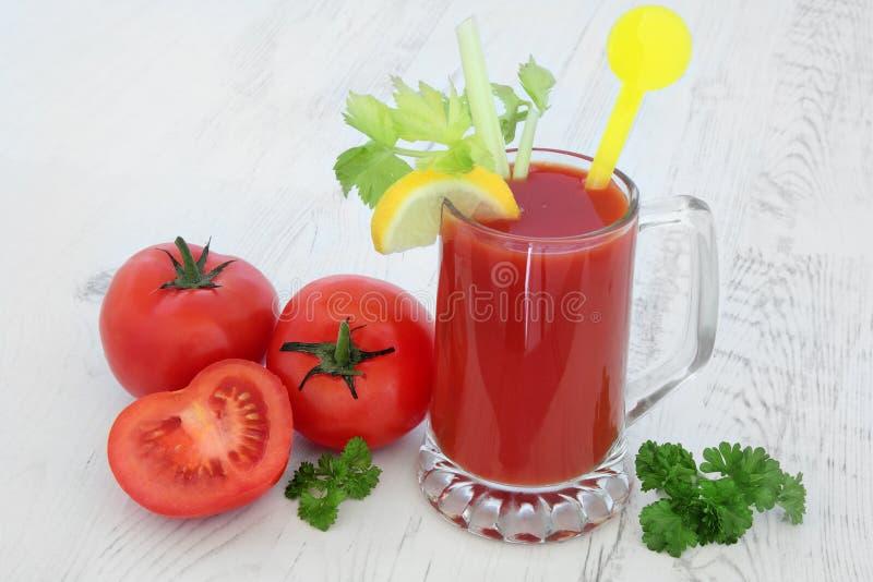 Pomidorowego soku zdrowie napój fotografia royalty free