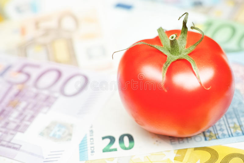 Pomidorowi koszty obraz stock