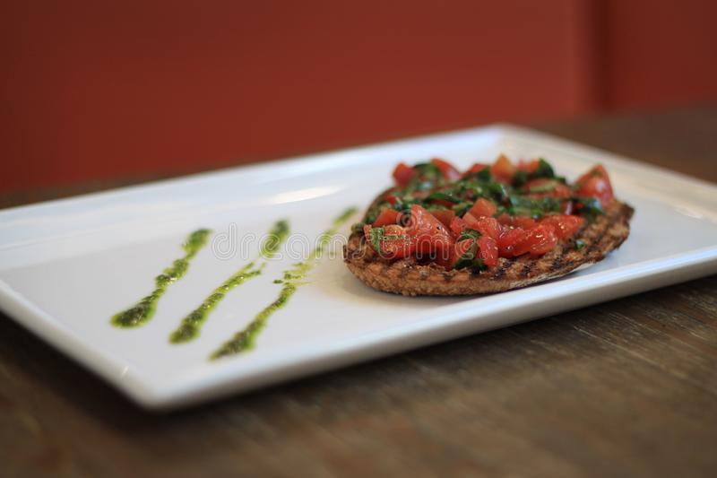 Pomidorowy Bruschetta obraz stock