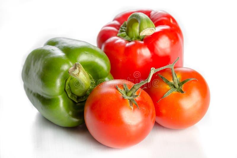 Pomidorowy i dzwonkowy pieprz zdjęcie stock